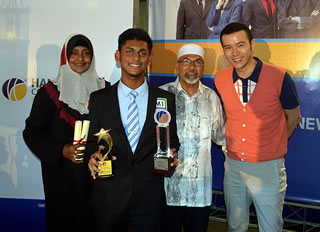Afeeq received second price from Anchor Idol 2014 BM